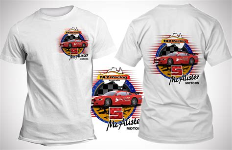 design a racing shirt t shirt design for mcalister motors by sd webcreation