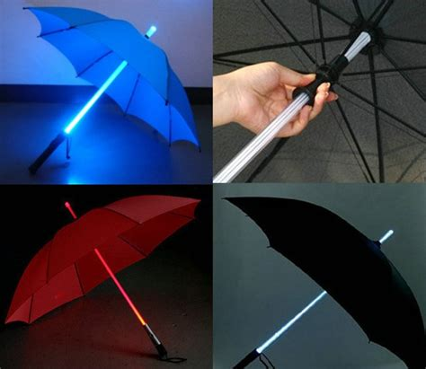 An Umbrella That Lights Up by Image Gallery Lightsaber Umbrella