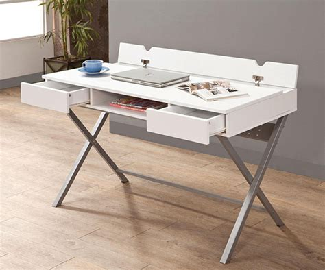 Table L With Outlet by White Connect It Built In Outlet Desk With Storage