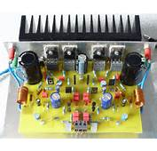 800W Audio Amplifier With MOSFET  Schematic Design