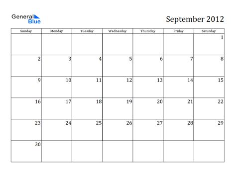 Or 2012 Free Calendar 2012 Free Printable Calendar September 2012