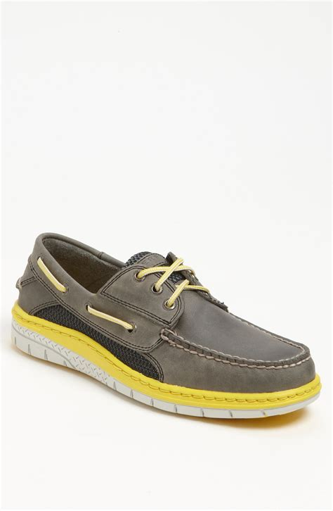 yellow sperry boat shoes sperry top sider billfish ultralite boat shoe in gray for