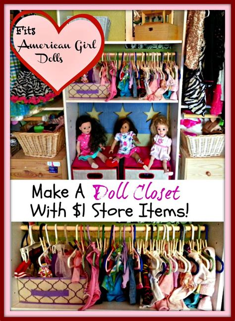 How To Make American Doll Closet by A Doll Clothes Closet With Dollar Store Items