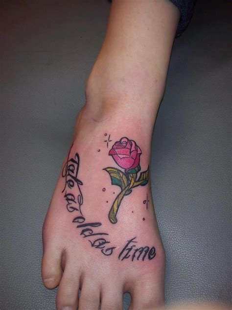 rose from beauty and the beast tattoo and the beast