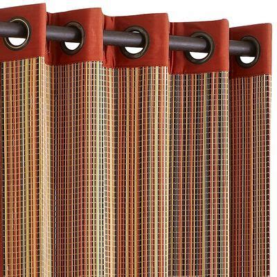 curtain ideas 5486 bamboo striped 84 quot grommet panel in 2018 home decor
