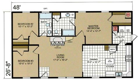 28x48 floor plans multi sectional atlantic ranch a44830 48 ridge crest home sales
