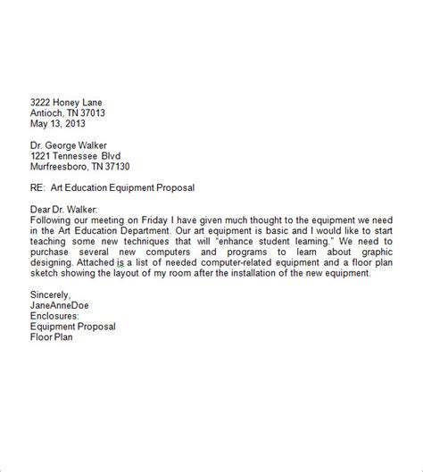 Business Letter Template 7 Business Letter Sle