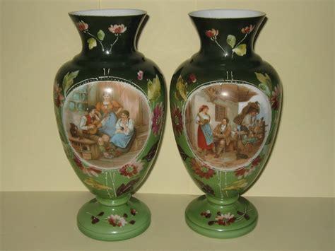 Victorian Glass Vase Pair Of Victorian Glass Vases C1880 250924