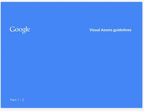 design guidelines google google visual assets guidelines part 1 on behance