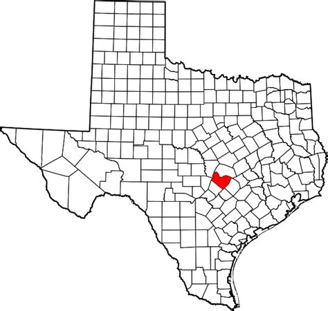 travis county texas map file map of texas highlighting travis county svg wikimedia commons