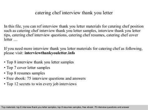appreciation letter to chef catering chef