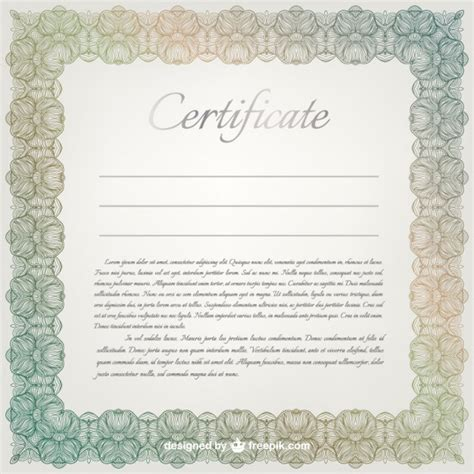 certificate vector template vector free download