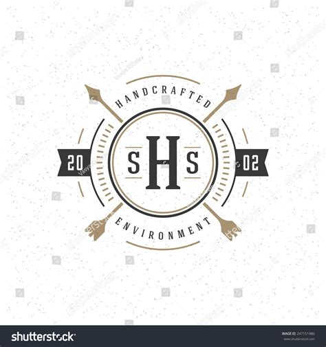 retro vintage insignia logotype label badge stock vector