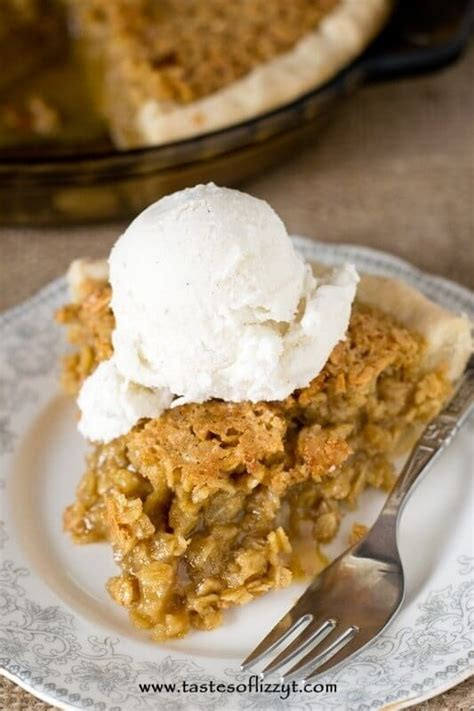 cooking light oatmeal pecan pie amish oatmeal pie tastes of lizzy t s