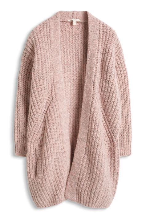 ribbed knit cardigan lera sweater