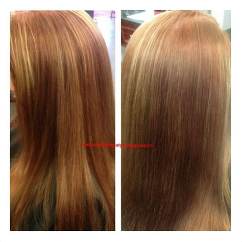 copper lowlights for short blonde hair long layered hair strawberry blonde copper lowlights