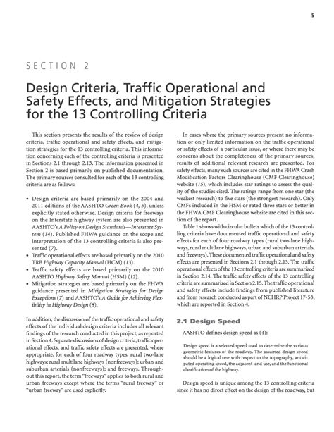 Design Criteria And Safety | section 2 design criteria traffic operational and