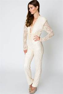 lace evening jumpsuit 70s style glamour dreamers and
