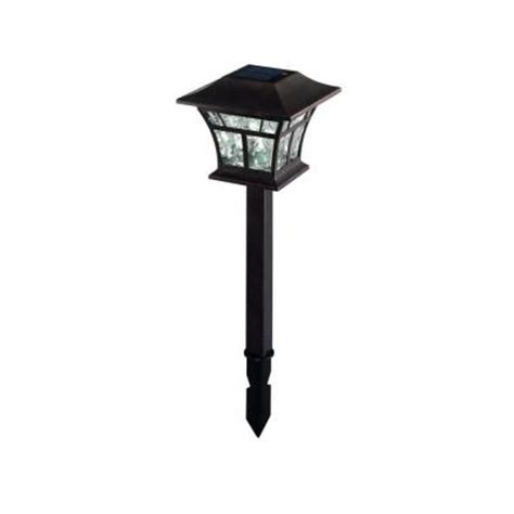 Solar Landscape Lights Home Depot Outdoor Copper Solar Led Landscaping Lights 4 Pack