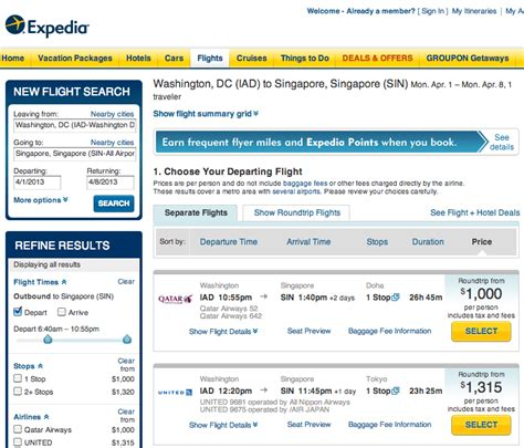 Use Scenario For Search A Flight Free Airline Tickets Search Results Calendar 2015