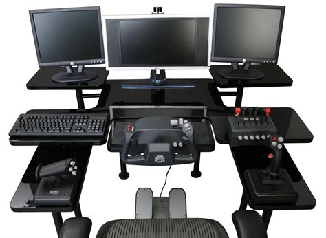 cool computer desk setups best custom gaming desk setup with multiple monitors in