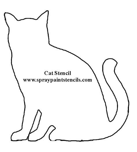 Cat Templates free stencils of animals