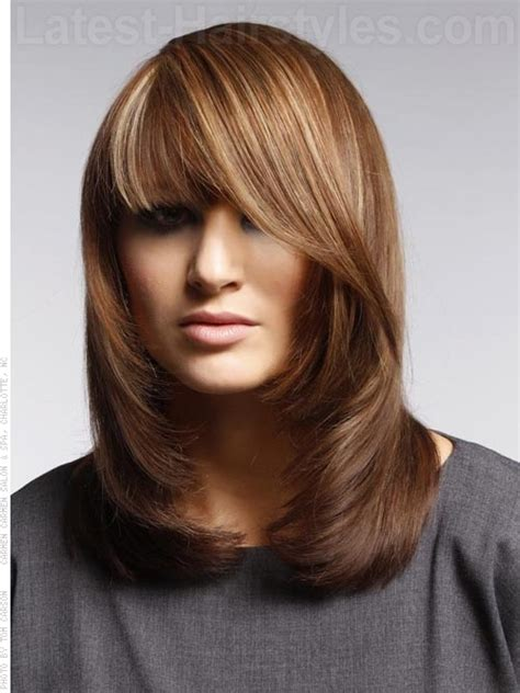 flip out gorgeous layered auburn style with side flip back chic shag how to style use round brush for blow out it
