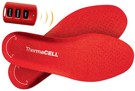 heated shoe inserts warm those winter rides w thermacell heated shoe insoles