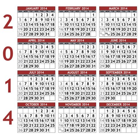calendar for 2014 with holidays calendar template 2016