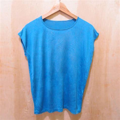Kaos Cuci Gudang 3 jual q122 cuci gudang kaos tanpa lengan warna biru polos murmer second