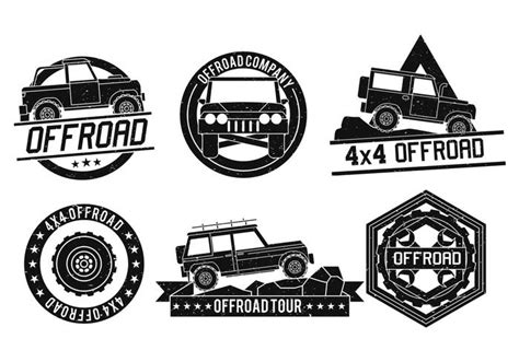 logo jeep vector road vector logo set free vector stock