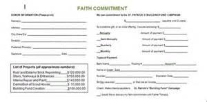 building fund pledge card template church building fund pledge cards images