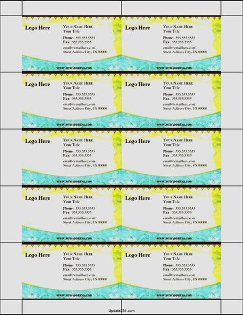 free templates for business cards printable printable business card template template update234 com