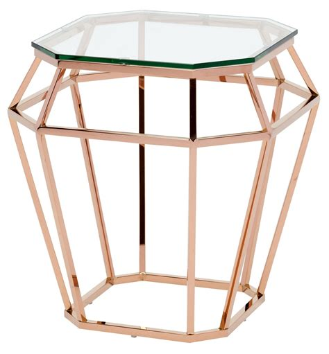 gold and glass table clear glass side table hgsx179 nuevo