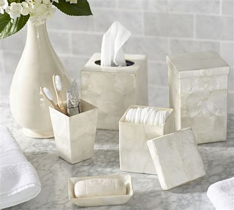 capiz shell bathroom accessories capiz bath accessories pottery barn