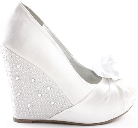 White Wedge Bridal Shoes by Wedding Wedges For Brides Wardrobelooks