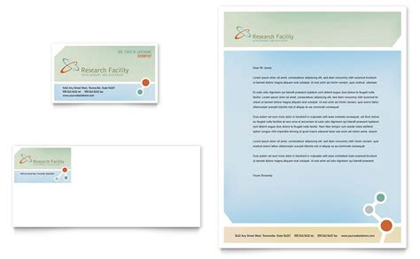 medical research business card letterhead template