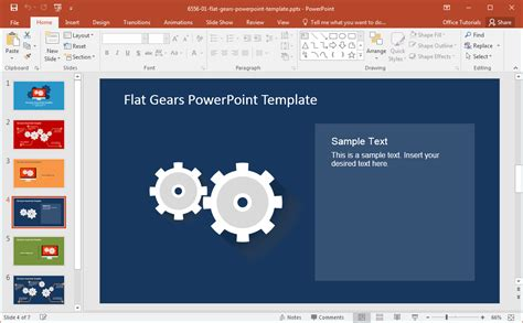 download free gears powerpoint templates for presentations modern flat gears powerpoint template