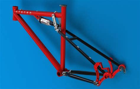 bike frame design loads full suspension bicycle frame solid edge 3d cad model