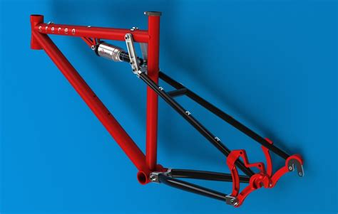 frame design solid edge full suspension bicycle frame solid edge 3d cad model