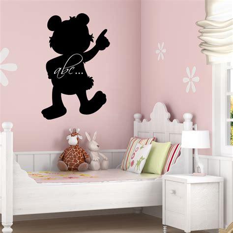 teddy wall stickers wallstickers folies teddy chalkboard blackboard