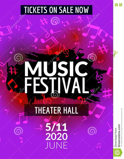 flyer design music colorful vector music festival concert template flyer