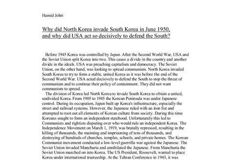 Essay About South Korea by Essay About South Korea
