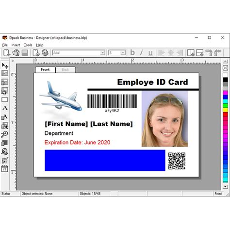id card design software fargo idpack business 9 id card software busi9 1 aptika