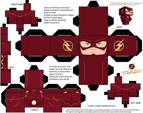 Papercraft Shows - flash season two cubeecraft by jagamen on deviantart