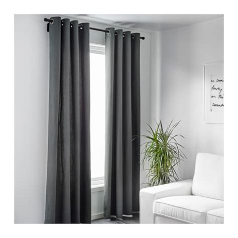 ikea curtains grey merete curtains 1 pair grey 145x250 cm ikea