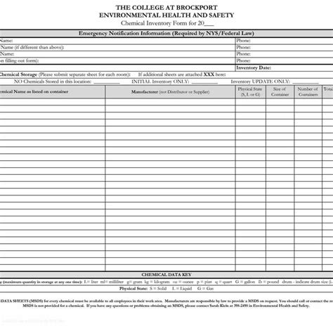 Osha Chemical Inventory Template Chemical Inventory List Sle Of Inventory Sheet And And Ipod Touch Made Use Home Inventory