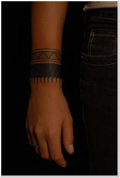 tribal wristband tattoo 29 solid wristband tattoos designs
