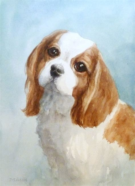 puppy painting daily painting projects watercolor cavalier watercolor