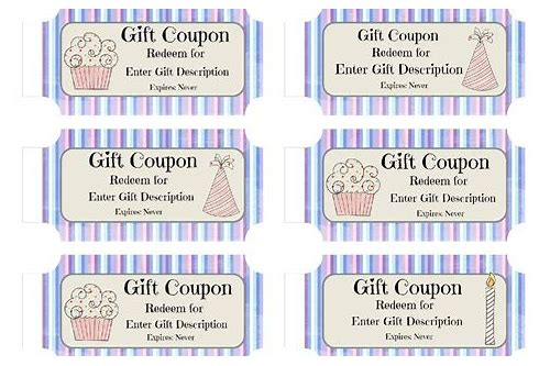 birthday coupon format